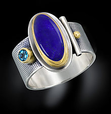 Oval Lapis Ring by Michele LeVett (Gold, Silver & Stone Ring)