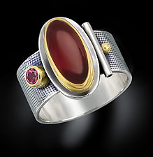 Oval Garnet Ring by Michele LeVett (Gold, Silver & Stone Ring)