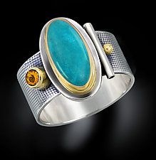 Oval Turquoise Ring by Michele LeVett (Gold, Silver & Stone Ring)