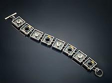 Positive/Negative Moonstone Bracelet by Michele LeVett (Gold, Silver & Stone Bracelet)
