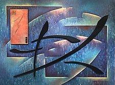 Ocean Harmonics by Linda Lamore (Mixed-Media Painting)