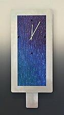 Large Aluminum Jewel Blend Clock by Linda Lamore (Metal Clock)