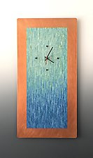 Tropical Aqua Blend by Linda Lamore (Metal Clock)