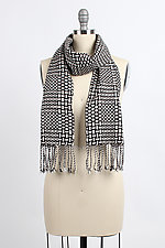 Black & White Scales Scarf by Muffy Young (Silk Scarf)