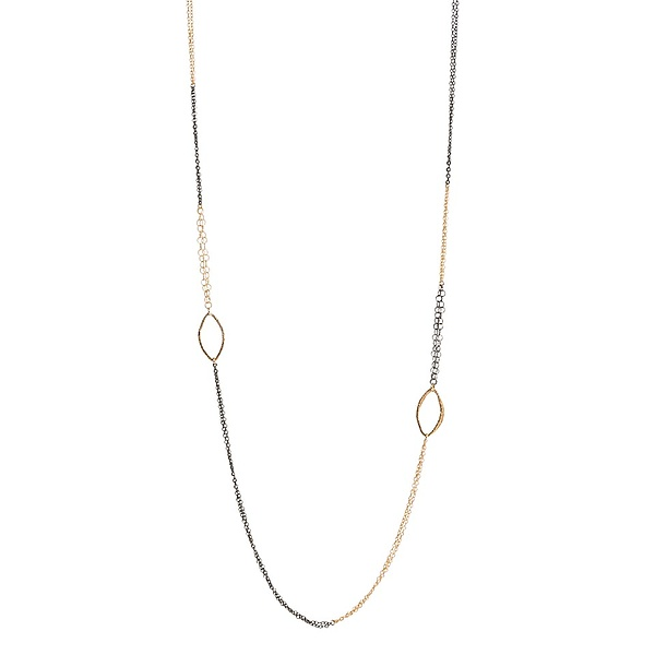 Morgan Color Blocked Long Marquis Necklace