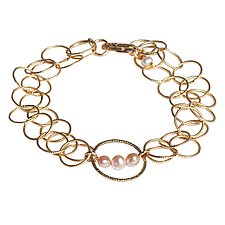 Camille Pearl Bracelet by Tracy Arrington (Gold & Pearl Bracelet)