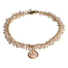 Camille Beaded Bracelet by Tracy Arrington (Gold & Stone Bracelet)