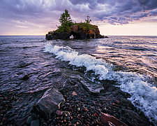 Stormy Hollow Rock Sunset by Matt Anderson (Color Photograph)