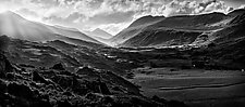 MacGillycuddy's Reeks in Black and White by Matt Anderson (Black & White Photograph)
