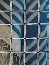 Tallis and Fence #7 by Jeanne Williamson  (Mixed-Media Wall Hanging)