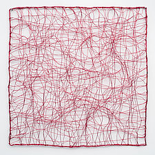 Red Tangle by Nancy Koenigsberg (Metal Wall Sculpture)
