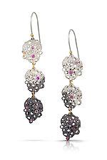 Ombre Scribble Dangle Earrings by Shauna Burke (Gold, Silver & Stone Earrings)