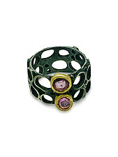 Open Beehive Sapphire Ring by Shauna Burke (Gold, Silver & Stone Ring)