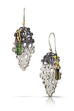 Ornamental Relic Earrings by Shauna Burke (Gold, Silver & Stone Earrings)