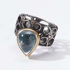Bejeweled Hive Ring by Shauna Burke (Gold, Silver & Stone Ring)