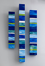Water Totems by Gerald Davidson (Art Glass Wall Sculpture)