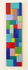 Patchwork II by Gerald Davidson (Art Glass Wall Sculpture)