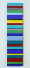 Striped I by Gerald Davidson (Art Glass Wall Sculpture)