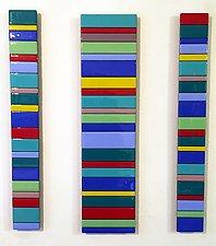 Striped Set by Gerald Davidson (Art Glass Wall Sculpture)