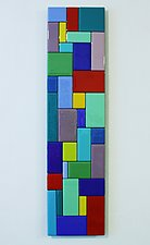 Patchwork I by Gerald Davidson (Art Glass Wall Sculpture)