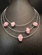 Pink Baroque Bead Necklace by Eloise Cotton (Glass Bead Necklace)
