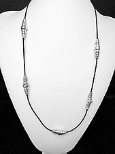 Silver Bead Rubber Necklace by Eloise Cotton (Silver Necklace)