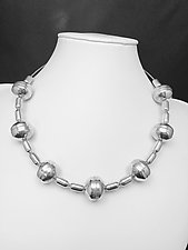 Silver Bead Necklace II by Eloise Cotton (Silver Necklace)