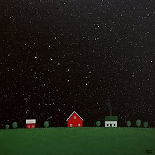Under the Big Dipper XVI by Sharon France (Acrylic Painting)