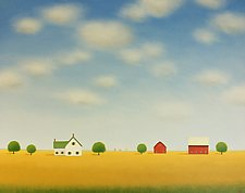 Farmhouse on the Prairie by Sharon France (Acrylic Painting)
