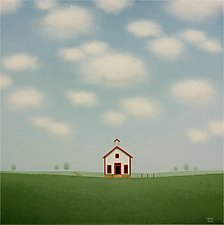 The Old White Schoolhouse by Sharon France (Acrylic Painting)