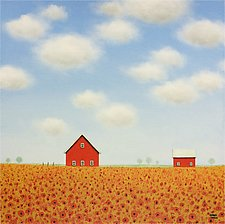 In a Poppy Field by Sharon France (Acrylic Painting)