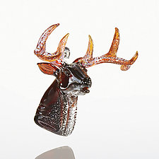 Stag Party by Paul Labrie (Art Glass Ornament)