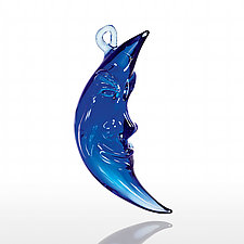 Blue Moon by Paul Labrie (Art Glass Ornament)