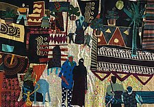 Evening Out in Cairo by Pamela Allen (Fiber Wall Hanging)