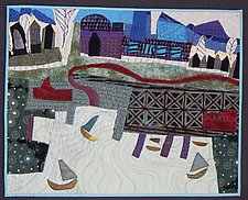 The Marina Downtown by Pamela Allen (Fiber Wall Hanging)