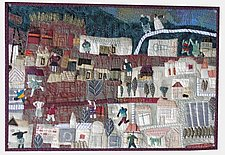 Older Part of Town by Pamela Allen (Fiber Wall Hanging)