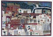 Older Part of Town by Pamela Allen (Fiber Wall Hanging)