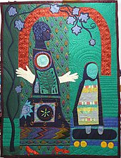 Childless Grandmother by Pamela Allen (Fiber Wall Hanging)