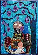 Shiraz Cabernet-YUM! by Pamela Allen (Fiber Wall Hanging)
