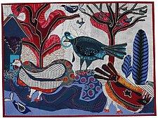 Three Big Seven Small Birds by Pamela Allen (Fiber Wall Hanging)
