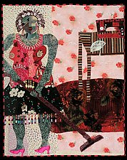 Domestic Goddess by Pamela Allen (Fiber Wall Hanging)