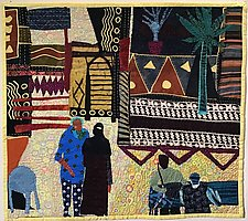 Cairo Cafe by Pamela Allen (Fiber Wall Hanging)
