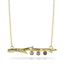 Montana Sapphire Branch Necklace by Susan Crow (Gold & Stone Necklace)