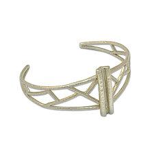 Sterling Silver Ridge Bracelet by Susan Crow (Silver Bracelet)