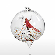 Cardinal by Steve  Scherer (Art Glass Ornament)