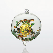 Sweet as Honey by Steve  Scherer (Art Glass Ornament)