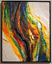 Fissure VIII by Carol Flaitz (Mixed-Media Painting)