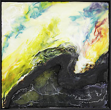 Fractured III by Carol Flaitz (Encaustic Painting)