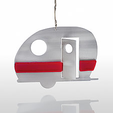 Happy Camper by Sondra Gerber (Metal Ornament)