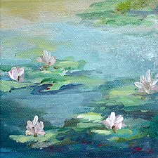 Peaceful Pond by Karen  Hale (Acrylic Painting)